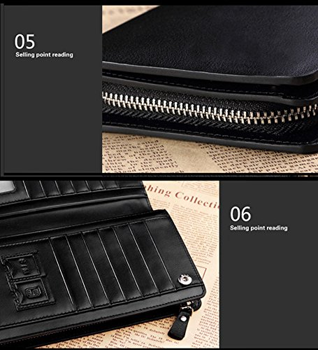 Men Purse Bifold Receipt New Black Card Organizer Cash Holder Atdoshop Wallet Leather v5AwxH8wq