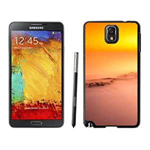 NEW Unique Custom Designed Samsung Galaxy Note 3 N900A N900V N900P N900T Phone Case With Mountains Covered In Fog At Sunset_Black Phone Case