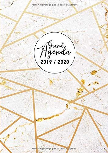 Grand Agenda 2019-2020: Agenda vertical semaine - août 2019 ...