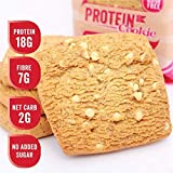 Justine's Cookies White Chocolate Raspberry Soft Baked High Protein Healthy Snack, Ultra Low Carb, No Added Sugar, Gluten Free, Wheat Free, Made in New Zealand (2.25 oz, 12 Pack)