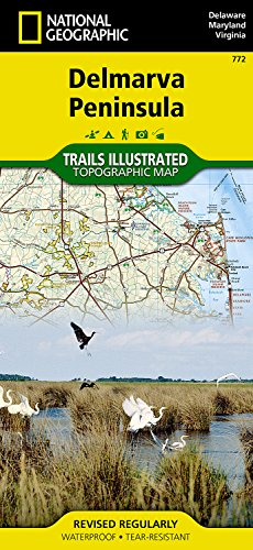 772  Delmarva Peninsula  Delaware  Maryland   Virginia  National Geographic Trails Illustrated Map
