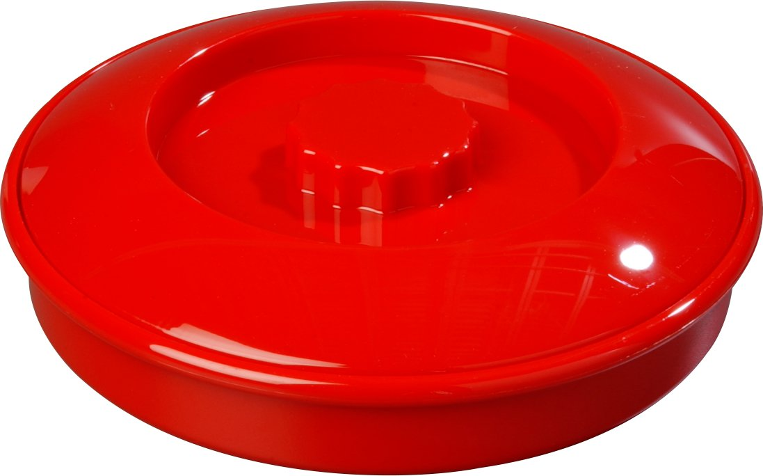 Carlisle 047005 Stackable Tortilla Server with Lid, 7-1/4/2, Red 7-1/4/2