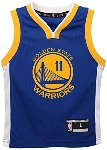 Outerstuff NBA Golden State Warriors-Thompson Kids Replica Player Jersey-Road, Medium(5-6), Blue