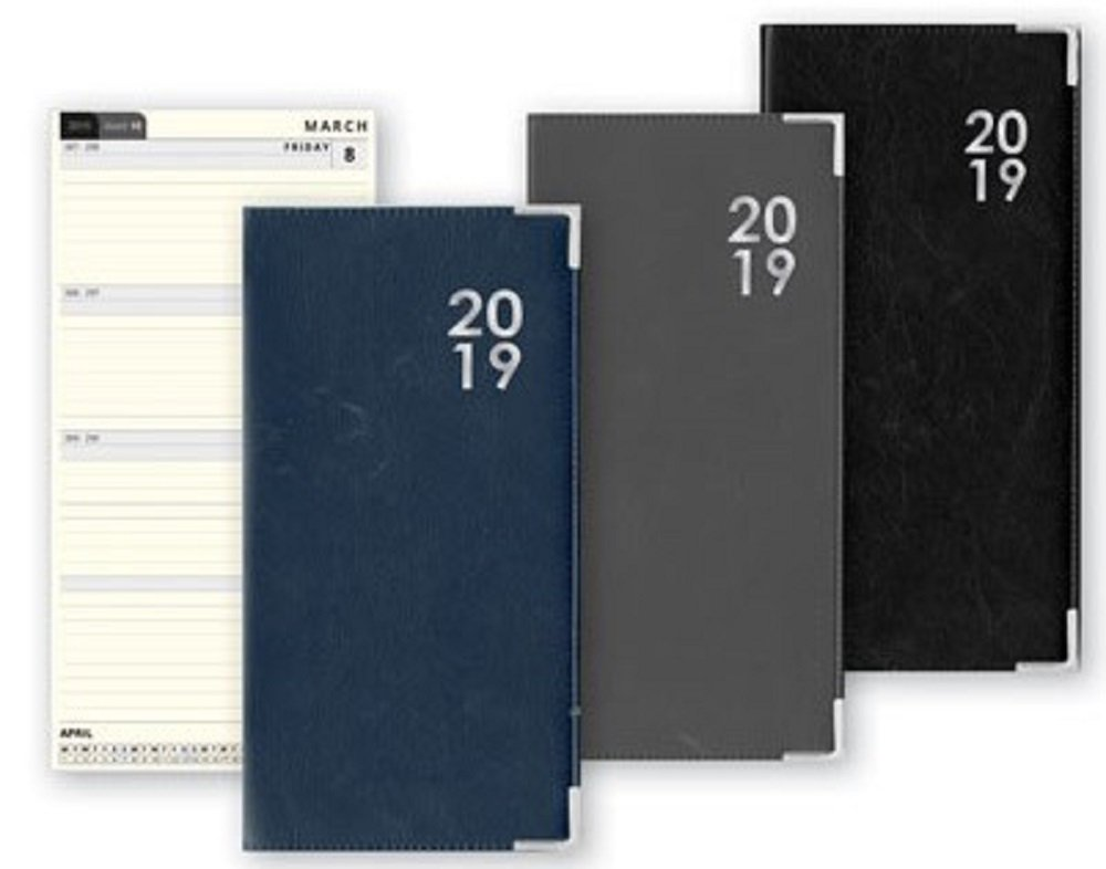 2019 Week to View Yearly Diary Fashion Design Hardback Slim Diary WTV For Office