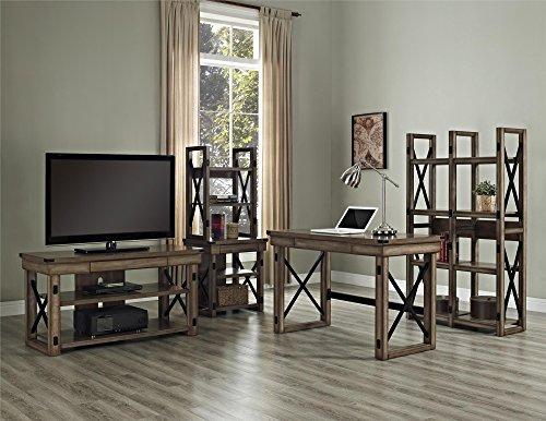 Amazon.com: Altra Wildwood Wood Veneer Bookcase/Room Divider, Rustic Gray:  Kitchen U0026 Dining