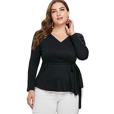99f761b8472bf CQ Tan Xun Plus Size Wrap Coat with Belt Black  Amazon.in  Clothing    Accessories