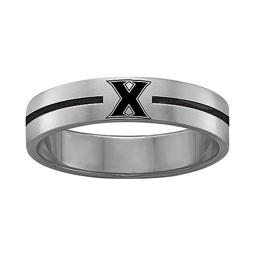 Amazon.com: Quad Logo Xavier mosqueteros anillos acero ...
