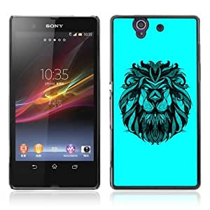 Designer Depo Hard Protection Case for Sony Xperia Z L36H / Majestic Lion