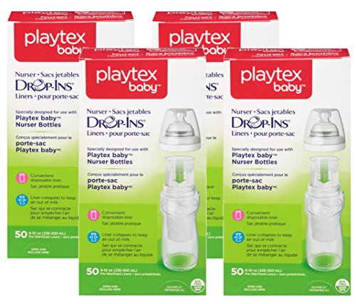 Playtex Drop-Ins Pre-Sterilized Disposable Liners 8-10 oz. 50 Count (4-Pack) (Pre Disposable Sterilized Liners)
