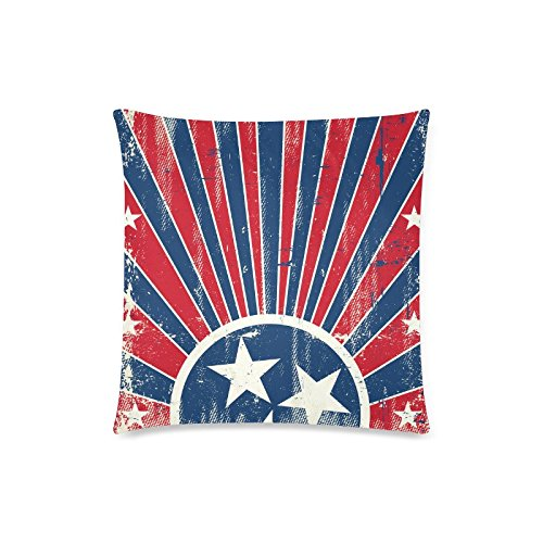 GUNCHU Custom Vintage Tennessee State Flag Decorative Throw Pillow Case Cushion Cover 18