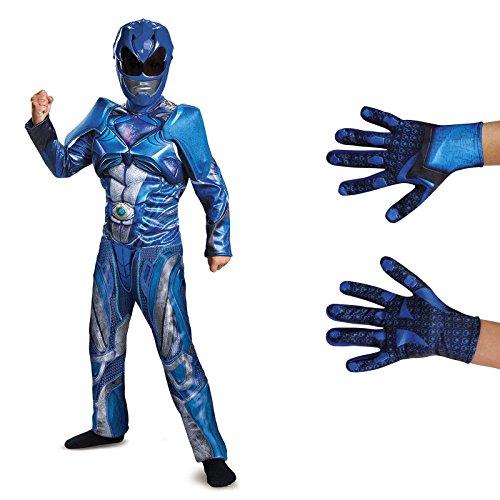 Power Rangers Movie Blue Ranger Children's Classic Muscle Costume Kit M
