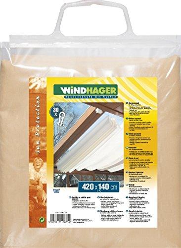 Windhager Sonnensegel für Seilspanntechnik, Sand, 420 x 140 cm