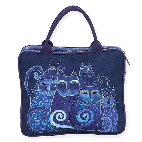 Laurel Burch Indigo Cats Cosmetic Travel Tote (Indigo ()