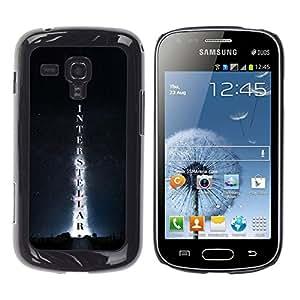 EJOY---Cubierta de la caja de protección la piel dura para el / Samsung Galaxy S Duos S7562 / --Interestelar