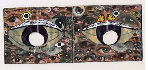The Eye Book mixed media collage book about vision with quotes about -
