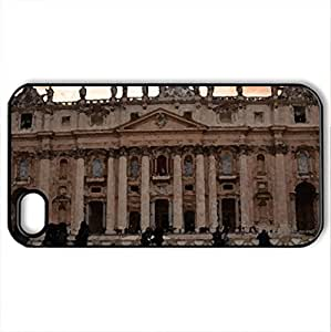 St. Peter's Basilica - Case Cover for iPhone 4 and 4s (Religious Series, Watercolor style, Black) by icecream design