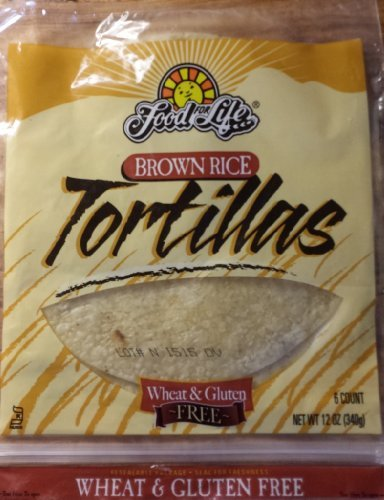 Food for Life Brown Rice Gluten Free Tortillas (Pack of 4) 12oz Each