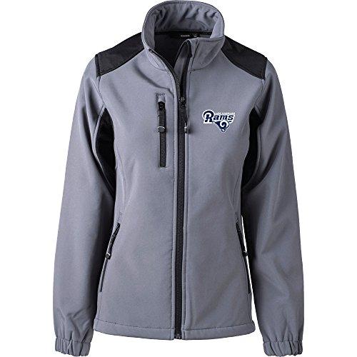 Dunbrooke Apparel NFL Los Angeles Rams Women's Softshell Jacket, Large, Graphite by Dunbrooke Apparel
