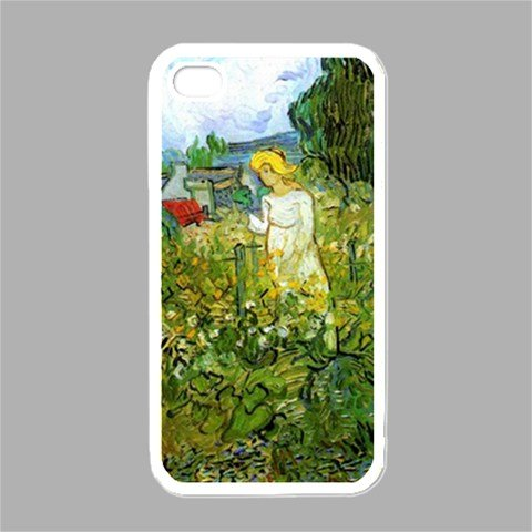 - Marguerite Gachet In The Garden By Vincent Van Gogh White Iphone 4 - Iphone 4s Case