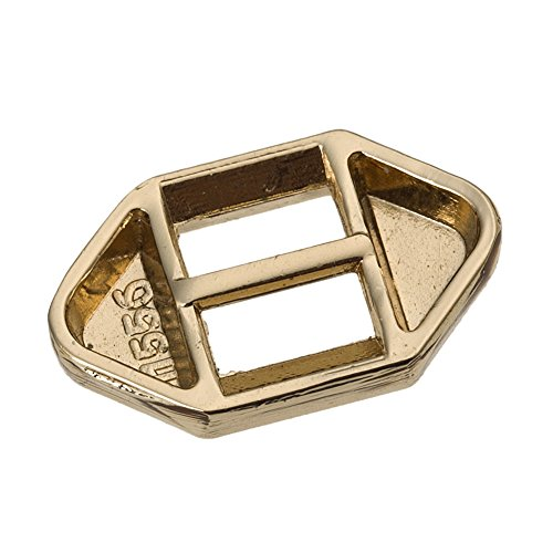 20PC Gold Plated Ribbon Slider Buckle Craft Embellishment R236