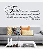dfwa Wall Sticker Faith Is the Strength by Which Vinyl Wall Statement Family DIY Decor Art Stickers Home Decor Wall Art For Kids Living Room Bedroom Bathroom Office Home Decoration