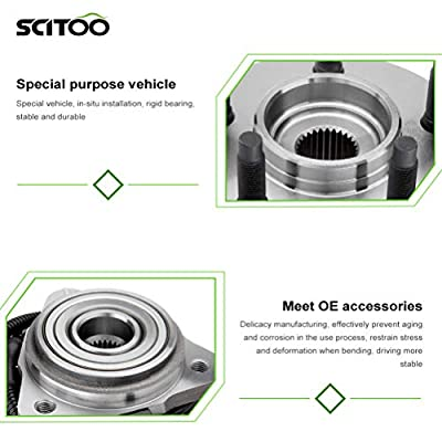 SCITOO Compatible with Pair of 2 New Front Wheel Hub Bearing Assembly fit Ford Ranger Mazda Mercury 4WD ABS: Automotive