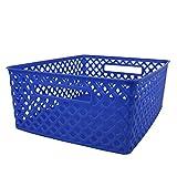 Romanoff (3 Ea) Medium Blue Woven Basket