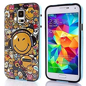 SHOUJIKE Smiling Face Pattern TPU + PC 2-in-1 Hard Case Cover For Samsung Galaxy S5 I9600