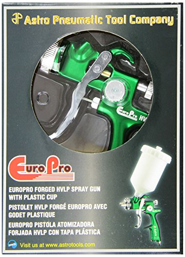 Astro EUROHV103 EuroPro Forged HVLP Spray Gun with 1.3mm Nozzle and Plastic Cup by Astro Pneumatic Tool (Image #1)