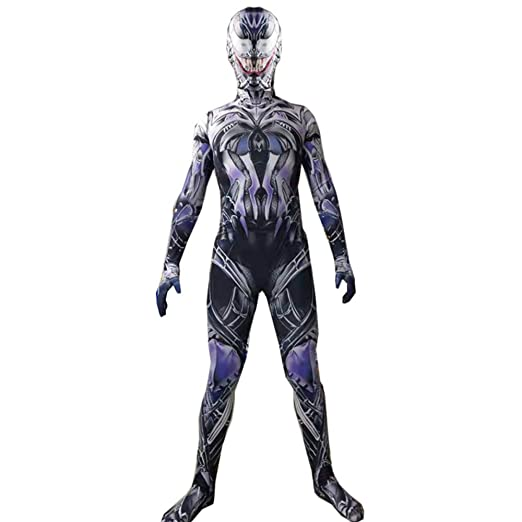 QQWE Niños Venom Spiderman Cosplay Traje Body Spandex Monos Color ...