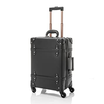 UNIWALKER Vintage Suitcase ABS Rolling Luggage With TSA Lock 20quot