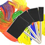 Bates- Foam Paint Brushes, Assorted Sizes, 20