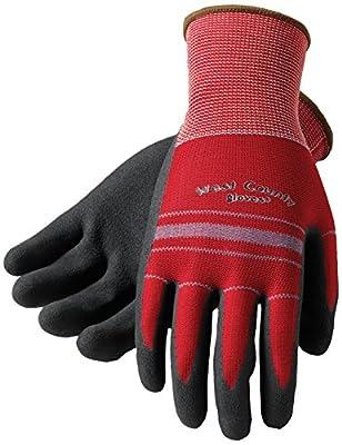 Safety Works 030S/L West County Grip, Large, Crimson/Slate Stripe