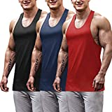 COOFANDY Men's Workout Tank Top 3 Pack Gym T Shirts