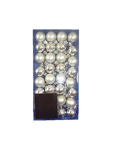 Mini Christbaumkugeln.32 X 25 Mm Mini Christbaumkugeln Silber