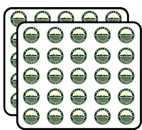 Salinas California City Seal (Logo cali ca) Sticker for Scrapbooking, Calendars, Arts, Kids DIY Crafts, Album, Bullet Journals -