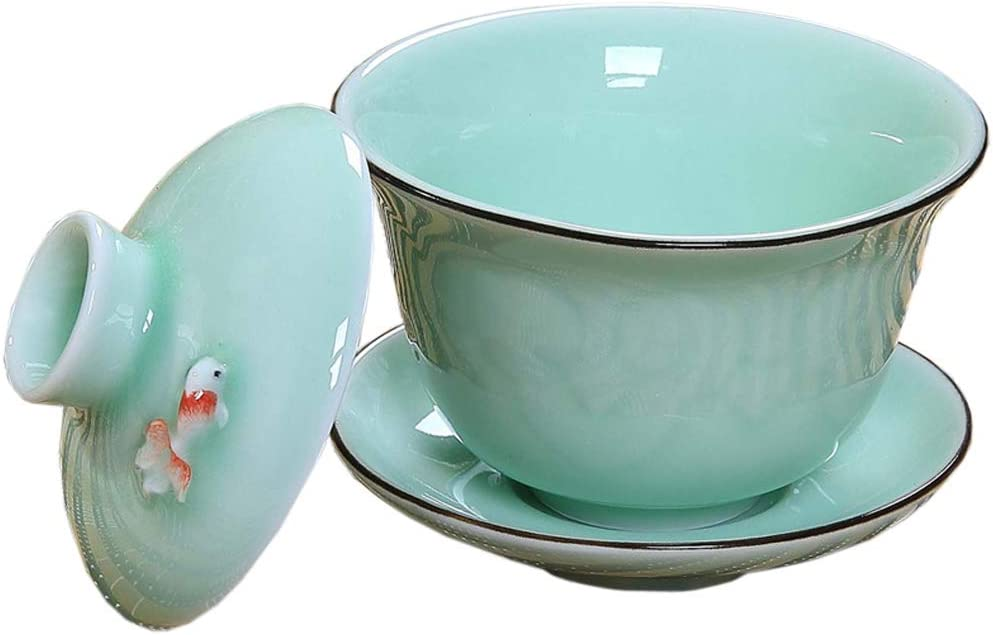 Gaiwan Traditional Tea Cup Comprised of Cup, Saucer and Lid Sancai wan tea set