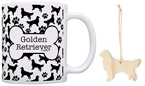 Golden Retriever Christmas Stockings (Golden Retriever Christmas Ornament Golden Retriever Coffee Mug Tea Cup Bundle Dog Stocking Stuffer)