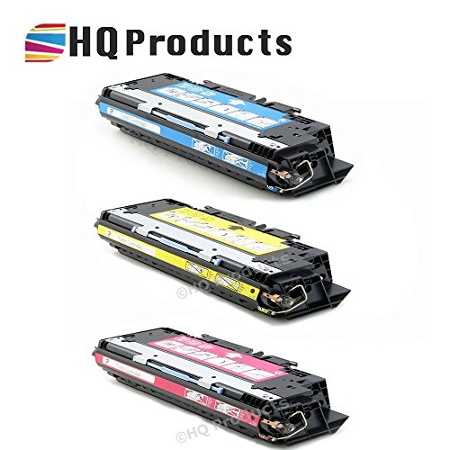 HQ Products Remanufactured Replacement HP 311A 3Pk Set (Q2681A Q2682A, Q2683A) C, Y, M Toner Cartridges for HP Color LaserJet 3700, 3700DN, 3700DTN, 3700N Series Printers.