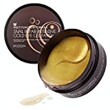 Mizon 100% Essence Hydrogel Eye Patches 24K Gold Snail Eye Treatment Mask Anti-Aging Reduces Puffiness Lightens Dark Circles, Under Eye Bags Treatment, Eye Masks for Puffy Eyes (30 pairs, 60ea)