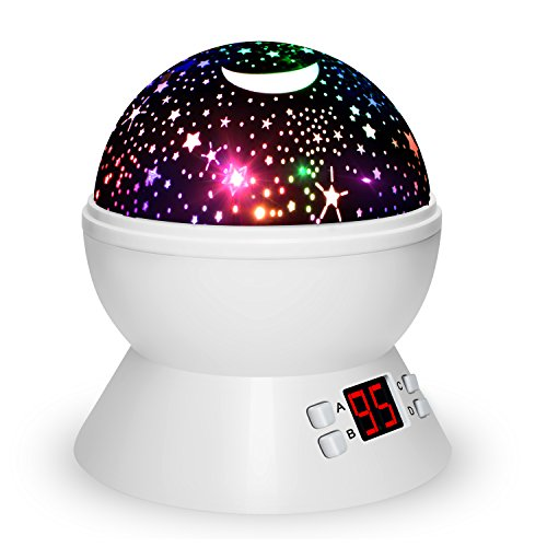 - Night Lights For Kids, Multiple Colors Rotating Star Projector With Timing Shutdown Function, Night Light For Baby Boys And Girls