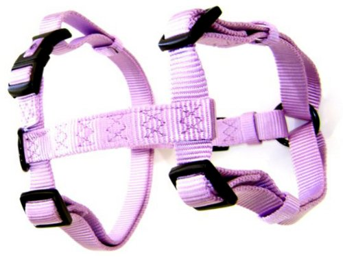 - Hamilton Adjustable Comfort Nylon Dog Harness, Lavender, 3/4