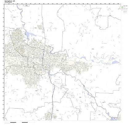 Springfield Va Zip Code Map.Amazon Com Springfield Or Zip Code Map Laminated Home Kitchen