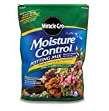 Miracle-Gro 75551300 Moisture Control Potting Mix, 1-Cubic Foot, 1 CF