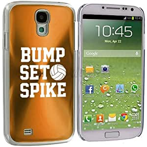 Samsung Galaxy S4 S IV i9500 Aluminum Plated Hard Back Case Cover Bump Set Spike Volleyball (Gold)