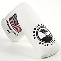 DBYAN Pebble Beach USA Flag Patterned Design Long Life Tree Golf Putter Head cover for Scotty Cameron Odyssey Blade Callaway Taylormade Titleist Ping Mizuno Cobra