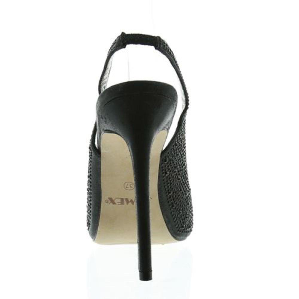 78c8d9abc30dbd Jumex Damen Pumps Elegant High Heels Schwarz Gold (36