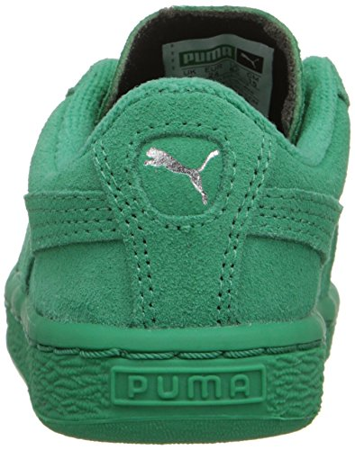 Puma High Risked Black White Suede Youths Trainers Simply Green/Simply Green