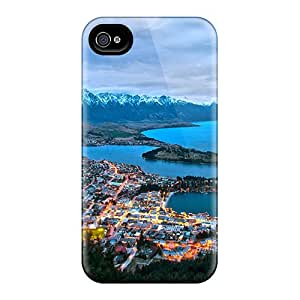 For Iphone 4/4s Premium Tpu Case Cover Cityscape Sunset Protective Case