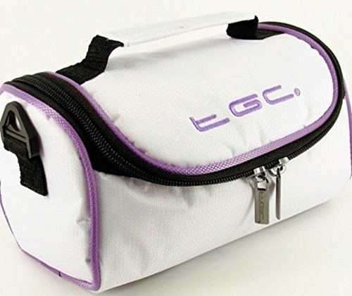 Hombro al Blanco Cool Red Purple Cool para TGC With White Trims Crimson Electric Mujer White with Bolso Trims REwxqgU5H